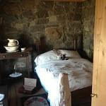 one of the bedrooms in the lighthouse