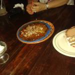 Crepes with cajeta and tiramisu