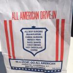 All-American burger wrapper