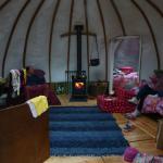 Interior of Oak Yurt