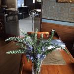 La recepción con flores naturales