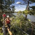 Treetop Trekking aerial course and zip line at Heart Lake