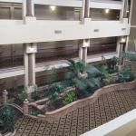 View from room of the ballroom foyer (inside courtyard area)