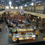 The food court in the market deli across the street