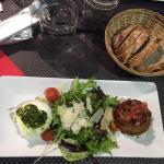 Mozzarella di Buffala et sa salade