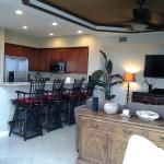 Kitchen, Bar Seating, TV Room