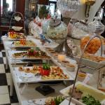 part of the wide variety of sweet and savoury foods