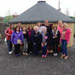 Hen party outside Yurt number 1