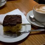 Delicious chocolate orange cake and coffee...yum!