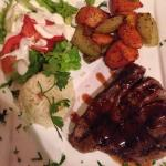 Tuna steak with tamarind and chipotle sauce!