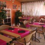 Inside restaurant Le Moana
