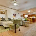 Spacious living / dining room and full size kitchen