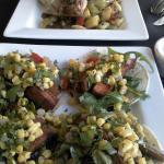 Sweet potato tacos & Cajun Ahi