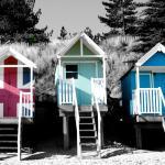 Famous beach huts
