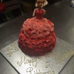 Fresh cream cake 3D doll cake.