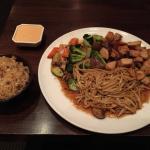 Hibachi chicken and steak