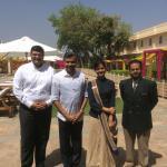 With Amit Saincher(GM) Jagrati(PA to GM) and Ashish Chandra(Executive-HR)