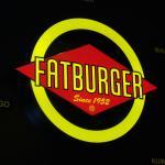 Sign at Fat Burger inside the Riverside
