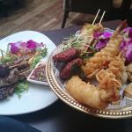 Siam Oriental Sharing Platter & Honey Pork