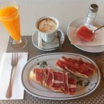 Desayuno impresionante!!! De Foto!!!