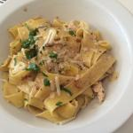 Pappardelle with chicken and dried tomatoes