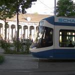 エンゲ駅前と路面電車