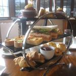 high tea set nicely displayed