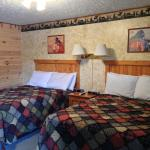 log beds and real quilts!