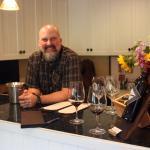 Inside the tasting room at von Strasser with host John DeGregory