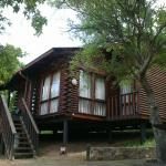 The lovely wooden chalet
