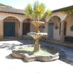 Fountain in the courtyard.