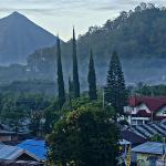 Ineire Volcano, Church and Morning Fog