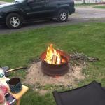 We enjoyed a fire each night