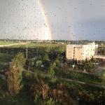 View from floor 6: double rainbow all the way.