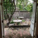 Private patio for breakfast