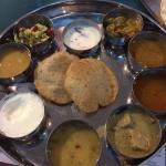 The South Indian thali