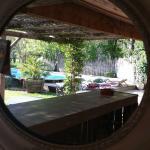 Depuis la cuisine exterieure face a la piscine!