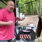 Grilling Bacon and Camping! What more could you possibly want?