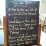 Le menu du jour demi-pension à 28 €