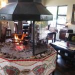 Warm Fireplace in Winter