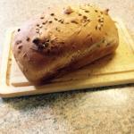 Home made spelt and sunflower bread