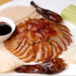 Traditionell zubereitete Peking-Ente