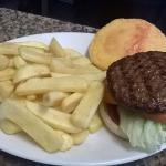 cheese burger and chips £4.50