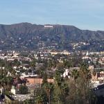 Daytime view from Hollywood Hills roomm- you can actually see the Hollywood sign!
