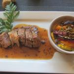 Iberico Pork Loin with Tian of Provençal Vegetables