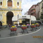 We arrive at Piazza Tasso in Sorrento near our Hotel Antiche Mura