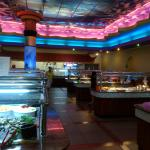 Food stations and Hibachi Grill
