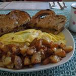 Greek Omelette Breakfast Special