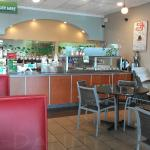 The counter where you order- cafe style