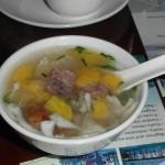 Snow fungus and aloe vera sweet soup